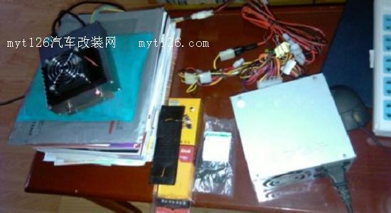 初步测试阶段 电源初步采用计算机开关电源稍加改动 馈线手工焊接制作