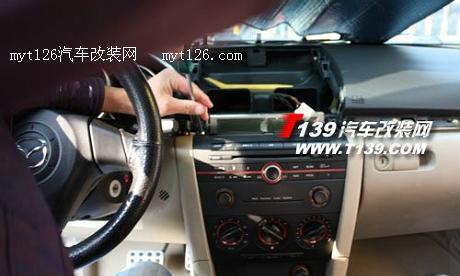 保留原车cd 马自达3升级导航倒车影像及装饰作业