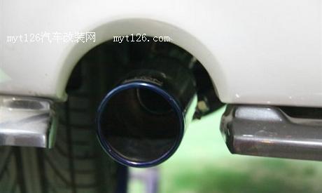 马自达3星骋改装中尾段排气高清图片