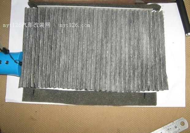 夏利N5空调滤芯DIY全过程高清图片