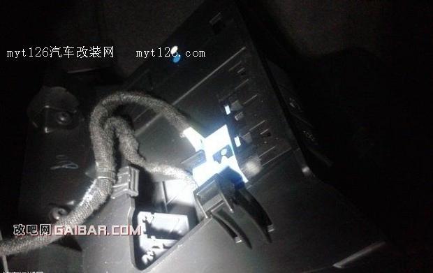 标致508行车记录仪内部取电高清图片