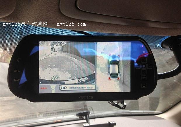 凯美瑞加装亿车安q9360度全景无缝鸟瞰四摄像头倒车