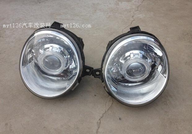 自己DIY奇瑞QQ车灯改装氙气大灯高清图片