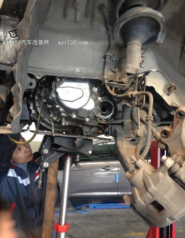 翼神6w公里大保养抬变速箱作业 - - myt126汽车改装网
