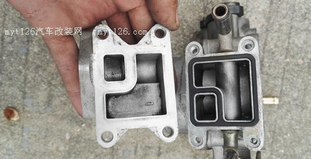 比亚迪f3三菱4g15s发动机清洗节气门作业