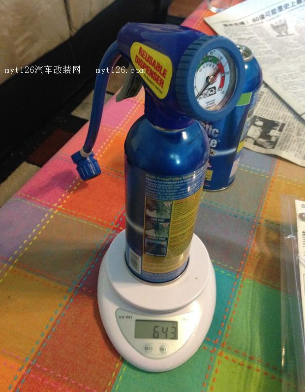 美版rav4空调系统diy抽真空充氟