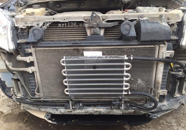为柴油版柯兰多加装变速箱油散热器