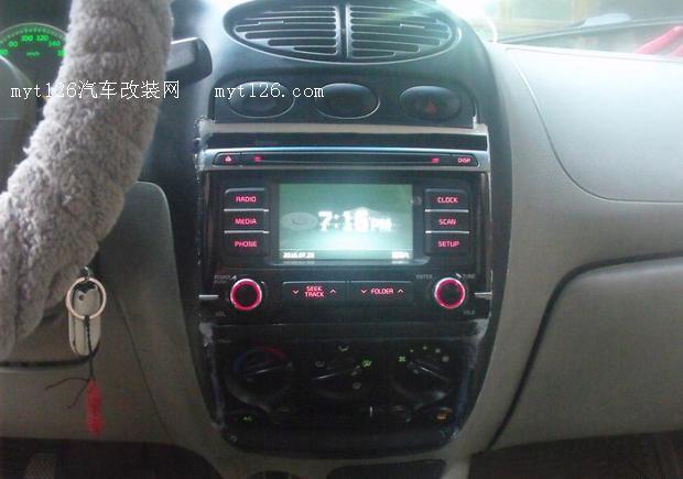 奇瑞QQ3改装起亚K4CD中控车机