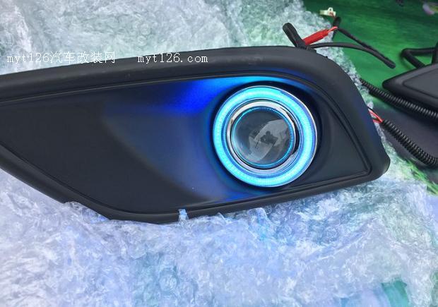 赛欧3加装天使眼雾灯及日行灯图片