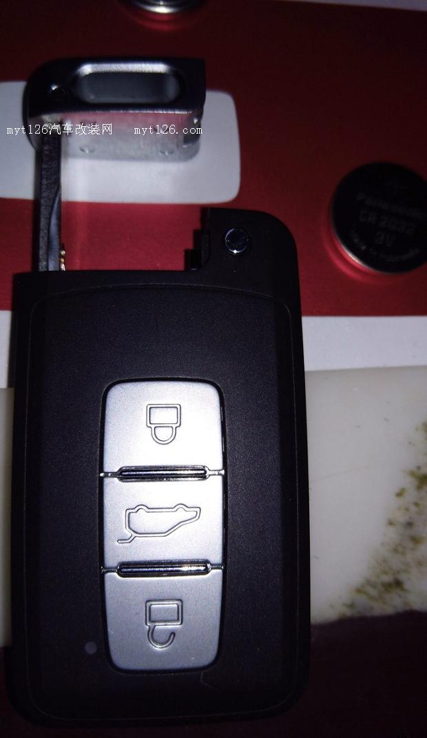 自己动手更换众泰t600车钥匙电池