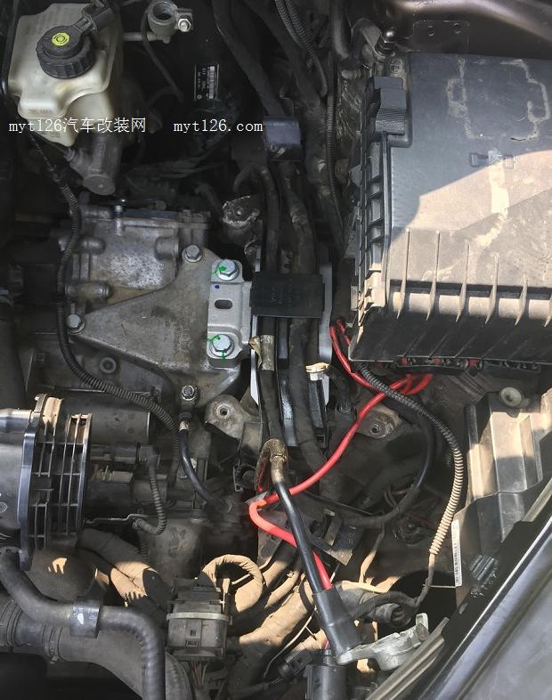 11款途安更换发动机及变速箱支架