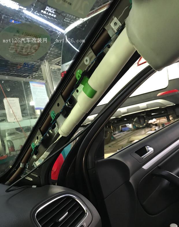 高尔夫6旅行版换天窗遮阳帘 - - myt126汽车改装网