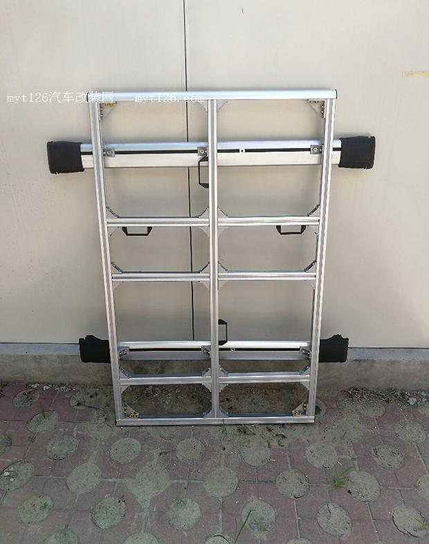 自制途安l铝型材行李架 - - myt126汽车改装网