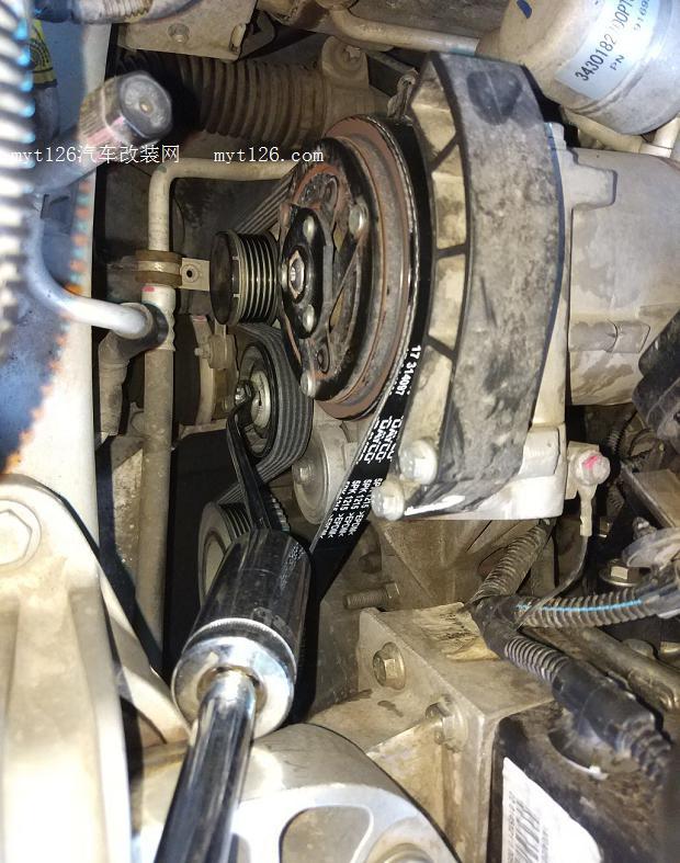 自己动手换发电机皮带 - - myt126汽车改装网
